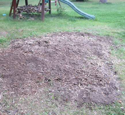 Ground after grinding